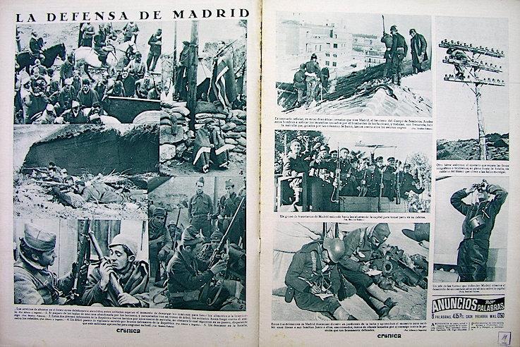 Madrid aguantó dos meses más que Barcelona el asedio de las tropas franquistas.