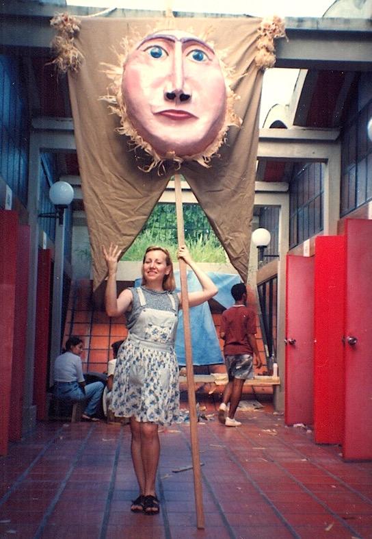 """Taller de máscaras para """"A Ópera do Milho"""""""