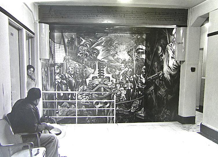 El mural desde el primer piso. Foto archivo Renau.