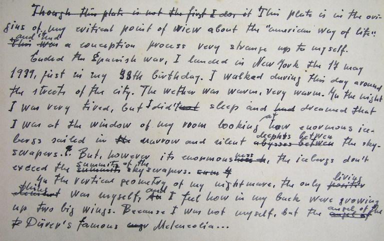 La nota manuscrita de referencia debió redactarse en la RDA, quizá 20 años después de los hechos rememorados.