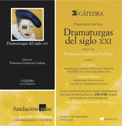 presentacion DRAMATURGAS DEL SIGLO XXI