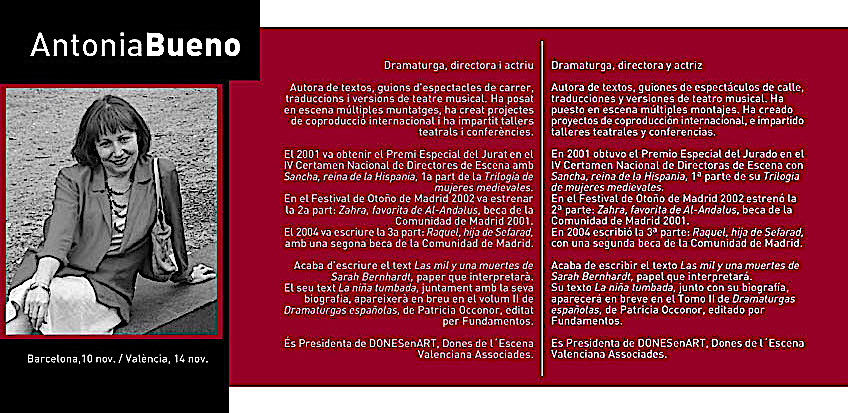 programa autora a escena Antonia Bueno 2005