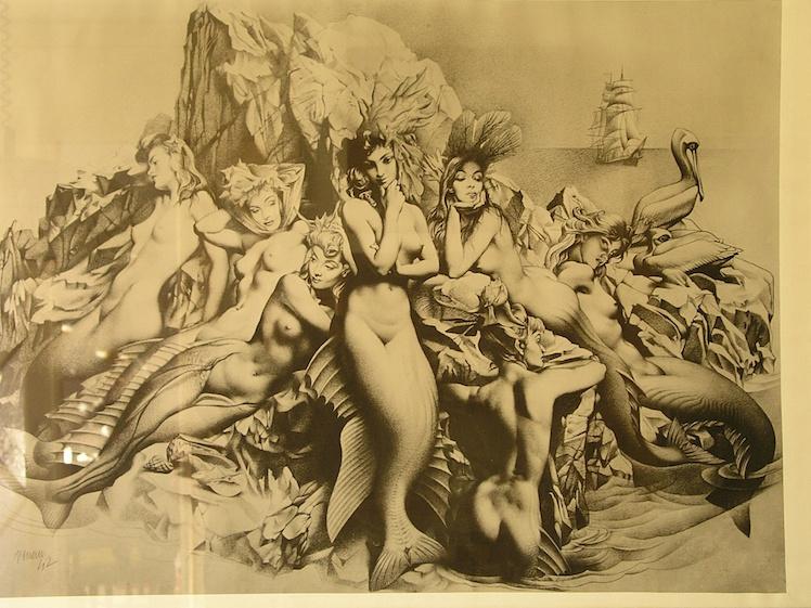 Uno de los dibujos caprichosos de Renau que evidencia su maestría