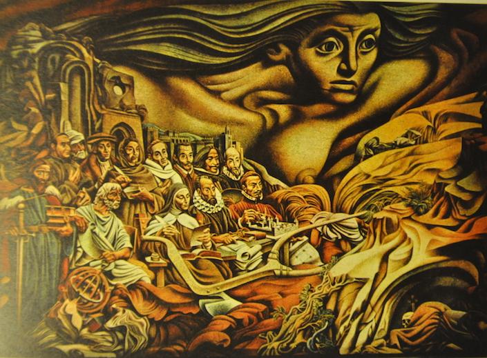 Un aspecto del mural.
