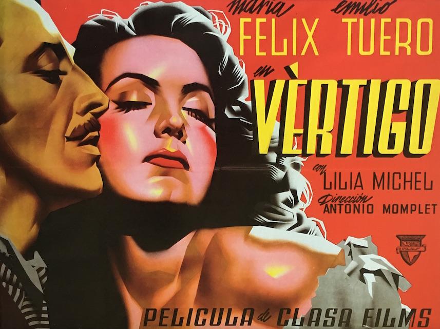 En las imágenes de más abajo se muestra la evolución de un cartel que no corresponde a este, pero con la misma actriz, María Félix