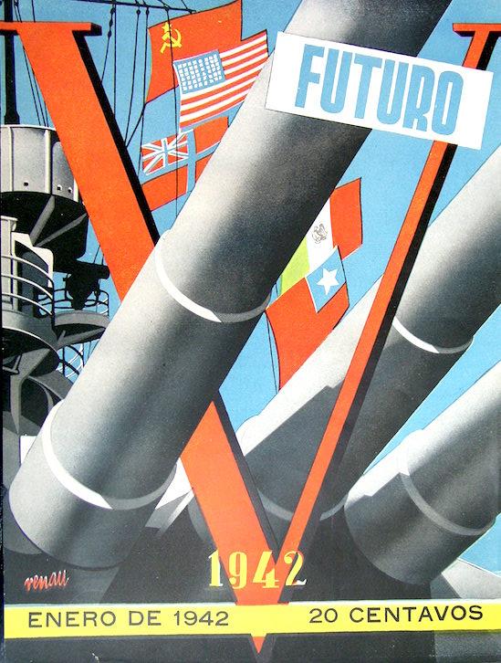 En 1942, la URSS y el resto de los aliados todavía eran amigos. Pero Renau ya afilaba la técnica del fotomontaje.