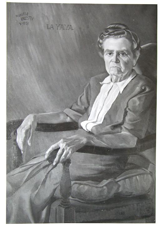 La Yaya por antonomasia, la madre de Manuela Ballester, retratada por su hija en 1951.