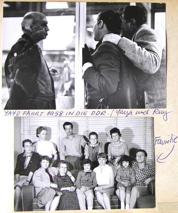 La dramática foto de arriba, del archivo familiar de Teresa, retrata la salida de Renau hacia París en el aeropuerto de México. La de abajo la debió realizar el mismo Renau antes de partir.