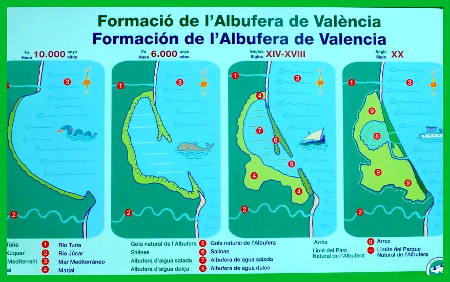 Resultado de imagen de mapa albufera valencia