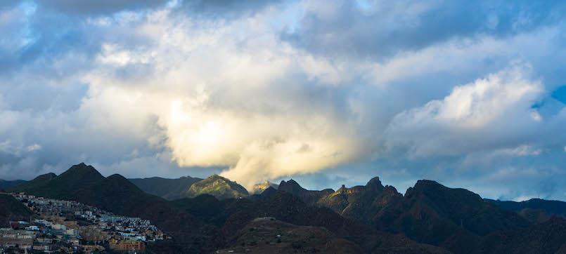 Cumbres del Parque de Anaga, al norte de La Laguna y Santa Cruz.