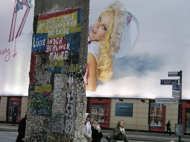 En este lugar se abrió el primer boquete del Muro en 1989 (Potsdamer Platz) Foto F.B.